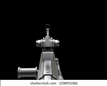 Looking Down the Barrel Images, Stock Photos & Vectors