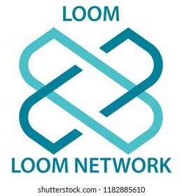 Loom Network Coin cryptocurrency blockchain icon. Virtual electronic, internet money or cryptocoin symbol, logo
