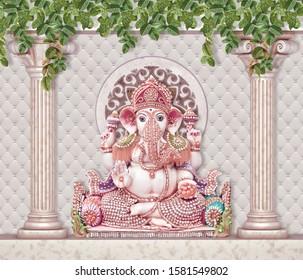 lord ganesha colorful rendering wallpaper 260nw 1581549802