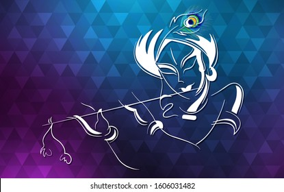 lord krishna abstract wallpaper 260nw 1606031482