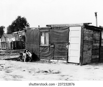 Los Angeles 'Hooverville' Shanties at Alameda and 85th street house over 100 men women and children.
