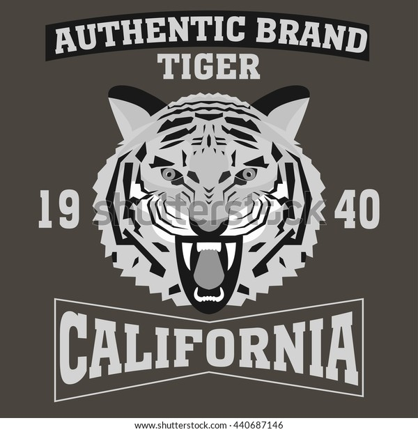 Los Angeles typography authentic tiger t-shirt graphics