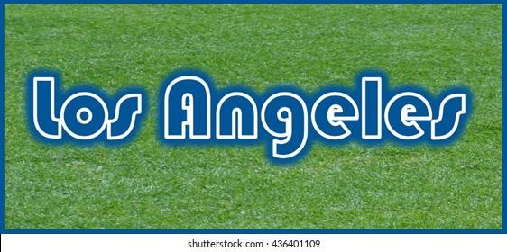 Los Angeles Word Clip Art