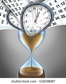 Losing time business concept for important appointment dates on a daily month calendar as lifestyle stress deadlines and schedule management with planning or strategy for family and a financial date.
