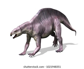 The Lotosaurus was a dinosaur that lived during the Triassic Period - 3d render.