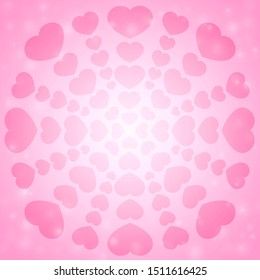 Lots of pink heart background material.