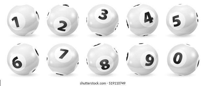 Lottery Number Balls. Black and white balls isolated. Set of black and white balls. White Bingo Balls.