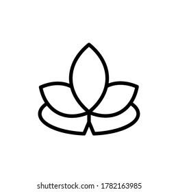 Lotus alternative medicine icon. Simple line, outline illustration elements of alternative medicine icons for ui and ux, website or mobile application