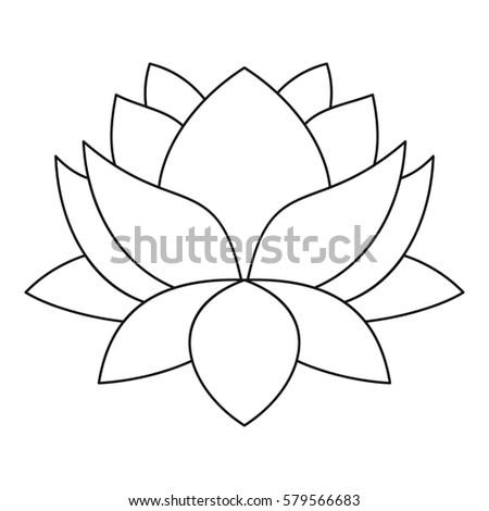 Lotus flower icon outline illustration lotus stock illustration lotus flower icon outline illustration of lotus flower icon for web mightylinksfo