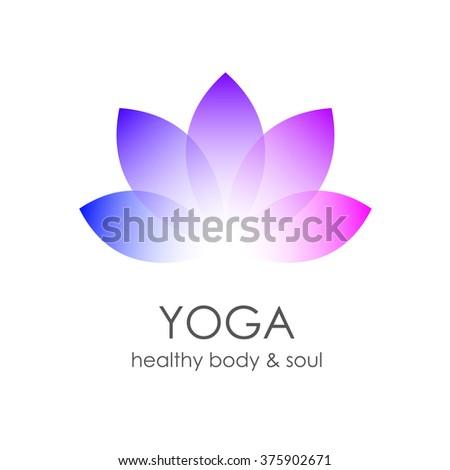 lotus flower yoga symbol template logoのイラスト素材 375902671