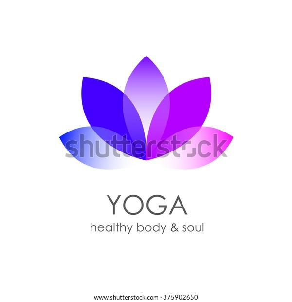 Lotus Flower Yoga Symbol Template Logo Stock Illustration 375902650