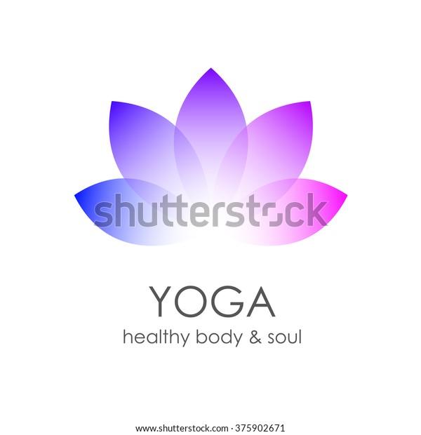 Lotus Flower Yoga Symbol Template Logo Stock Illustration 375902671