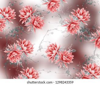Lotus  flowers pattern desıgn background