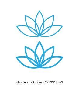 Lotus icon. lotos flower calm and harmony pictogram
