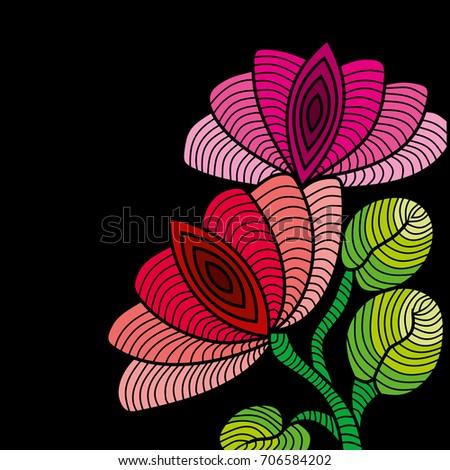 Lotus National Flower India Stock Illustration Royalty Free Stock