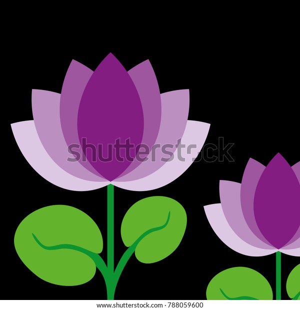 Lotus National Flower India Stock Illustration 788059600