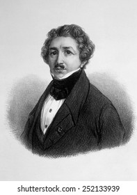Louis Jacques Mande Daguerre (1789-1951), inventor of the daguerreotype in 1839