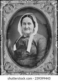 Louisa Van Velsor Whitman (1795-1873) mother of Walt Whitman (1819-1892) American poet, author, and journalist in 1855 daguerreotype portrait.
