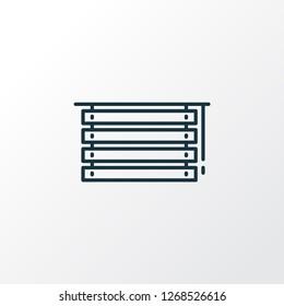 Louvers icon line symbol. Premium quality isolated jalousie element in trendy style.