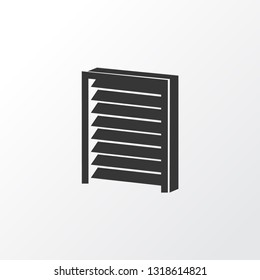 Louvers icon symbol. Premium quality isolated jalousie element in trendy style.