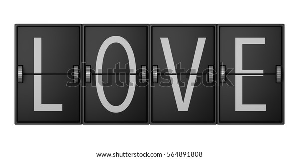Love Airport Terminal Style Arrivals Departure Stock Illustration 564891808