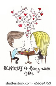 love couple sitting at a cafe. Philtre. Elixir of Love. Chemistry of love. chemists. love. Valentines day