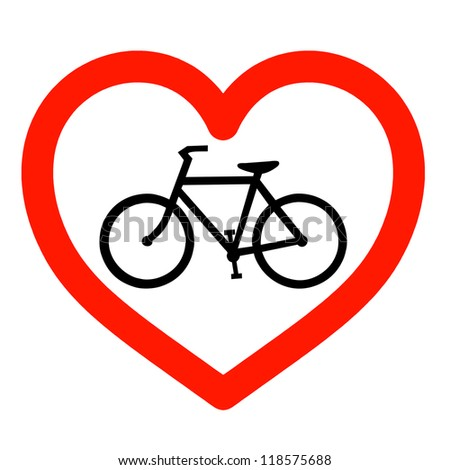 Love Cycling Sign Stock Illustration Royalty Free Stock
