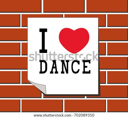 love dance sign stickers card templates stock illustration 702089350