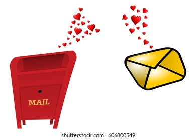 Love at first sight, a mailbox and a letter fall in love