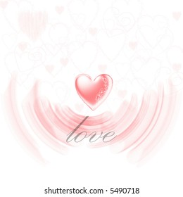 Love Heart - Design or logo for card or incorporating into designs. Lots of detail