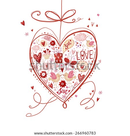 Love Heart Save Date Background Valentine Stock Illustration
