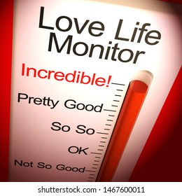 Love life monitor incredible means intimate sex life. Unbelievable and fantastic intercourse - 3d illustration