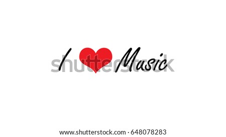 Love Music Quote White Color Background Stock Illustration 648078283
