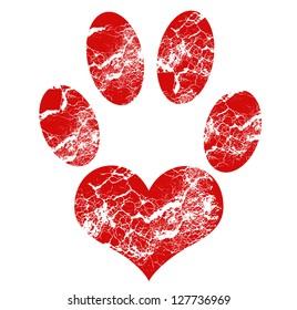 Love Paw Print.