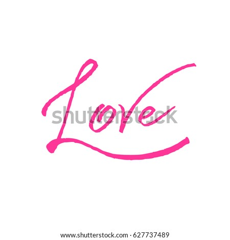 Love pink calligraphy valentines day romantic stock illustration love pink calligraphy valentines day romantic greeting card handwritten modern rose brush lover lettering m4hsunfo