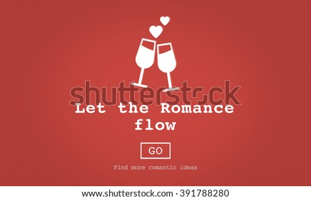 Love Quotes Romance Valentines Website Concept Stock Illustration Custom Quotes Website