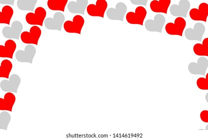 Love romantic hearts background texture