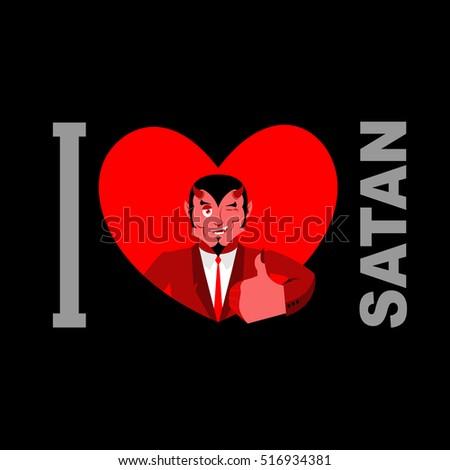 Love Satan Symbol Heart Devil Horns Stock Illustration Royalty