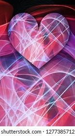 love spiritual red violet blue pink valentine heart background