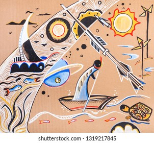 love to travel to see exotic countries, abstract picture
