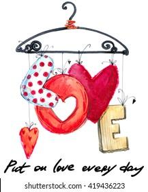 Love. Valentine day Card.