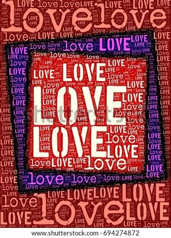 love words frame image stock illustration 694274872 shutterstock