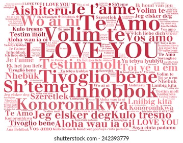 Love words i love you different stock illustration 242393803 love words i love you in different languages of the world words cloud thecheapjerseys Choice Image