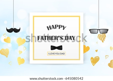 love you dad happy fathers dayのイラスト素材 645080542 shutterstock