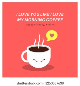 i love you like your my morning coffee