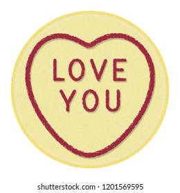 Loveheart Sweet Candy - Love You Message