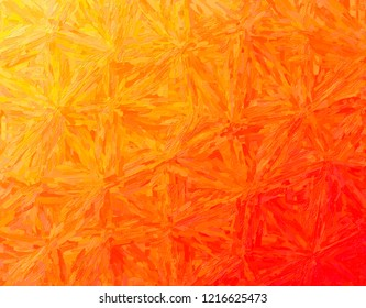 Lovely abstract illustration of orange Impasto with long brush strokes paint. Useful background for your prints.