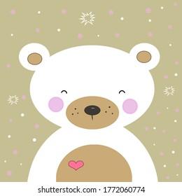 Lovely cute bear Illustration Image Background
