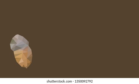 low poly ancor with brown background with copy space for text atumn backdrop wallpaper