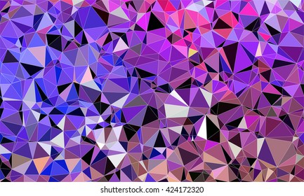 Low poly background design in geometric pattern. polygon wallpaper in origami style. polygonal texture illustration in color purple and blue and black and light pink.